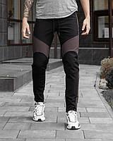 Мужские зимние штаны Vice City (черно-коричневые)