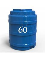 Бочка пластиковая двухслойная вертикальная 60 литров.