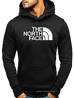Утепленная мужская толстовка The North Face черная (ЗИМА) с начесом (большая эмблема) реплика