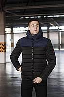 Куртка мужская зимняя Rise черный с синим