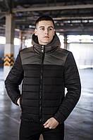Куртка мужская зимняя Rise черный с хаки