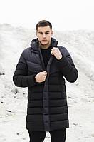 Куртка-пальто зимняя мужская Zirka антрацит/черный