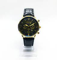 Мужские наручные часы Rolex (Ролекс), золото с черным циферблатом ( код: IBW246YB )