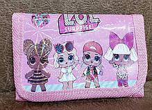 """Кошелек детский для девочек на липучке """"LOL"""" CR-1001 (12*7.5), фото 3"""