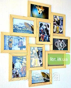 Мультирамка Lot 310, дерево, бесцветный, белый, чёрный, орех, венге, серый.