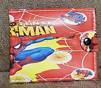 """Кошелек детский для мальчиков на кнопке """"Spider-man"""" CR-1026 (9*10.5)"""
