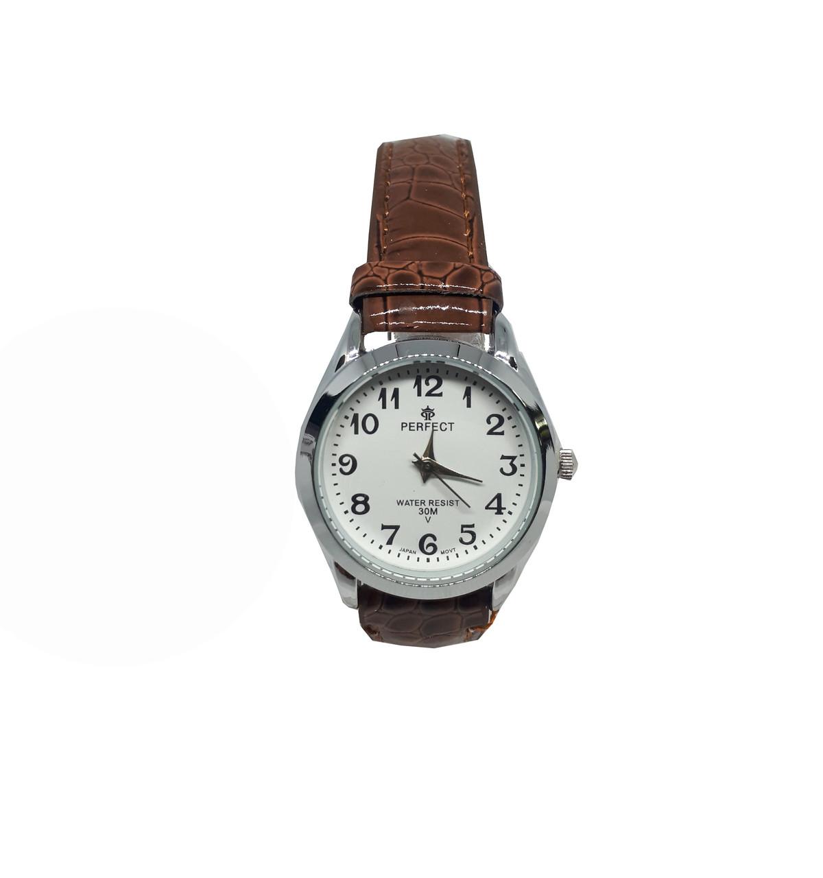 Часы кварцевые Perfect на ремешке женские коричневые