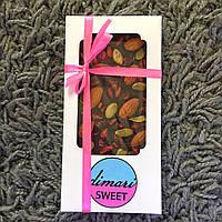 Натуральный шоколад БЕЗ САХАРА и МОЛОКА с орехами и сухофруктами