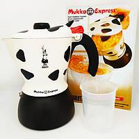 "Кофеварка гейзерная Bialetti Mukka Express cappuccino maker ""Коровка"" на 2 чашки (360 мл)"