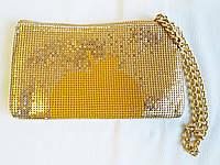 Сумка женская клатч вечерний косметичка цвет золото DKNY Gold Apple Clutch