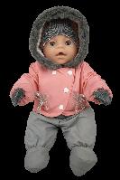 Зимняя одежда для Baby Born - комбинезон коралловый