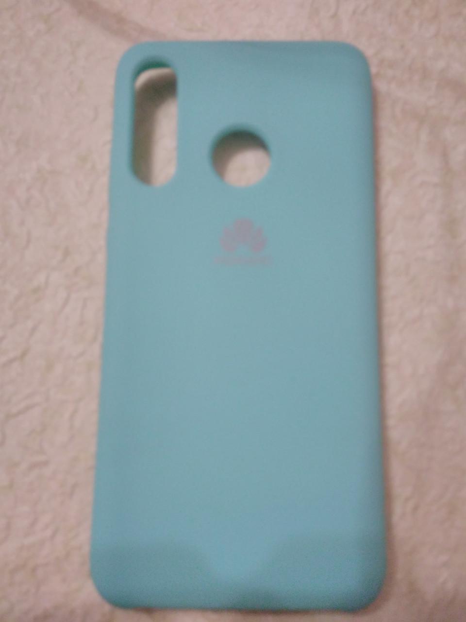 Накладка Silicone Case Original для Huawei P 30 Lite (м'ятний)