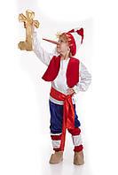 Детский карнавальный костюм для мальчика «Буратино» 110-120 см, красно-синий