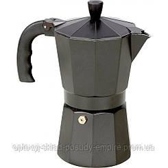 Кофеварка гейзерная 600мл черная Vincent VC-1366-600