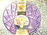 Миска 500мл прозрачная с рисунком Виолет пластик 0308, фото 3
