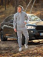 Спортивный костюм зимний мужской до -25*С Лампас ТОП качество X-grey