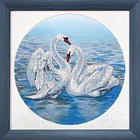 Набор для вышивки бисером Танец любви 26.5x26.5 см Чарівна Мить