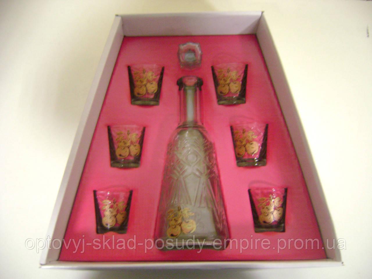 Набор для ликера графин+6 стопок Пьяная вишня 163-500