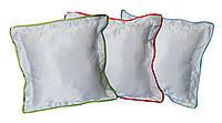 Подушка прямоугольная 35х35 см атласная с цветной каймой