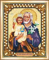 Набор для вышивки бисером икон: Икона святой праведный Иосиф Обручник  Б-1164 Чарівна Мить