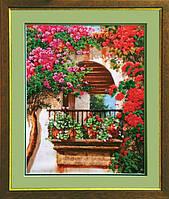 Набор для вышивки бисером Цветы на балконе 29x36.5 см Чарівна Мить