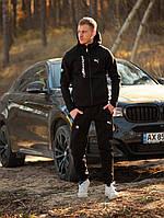 Спортивный костюм зимний мужской в стиле Puma BMW black / ЛЮКС качество