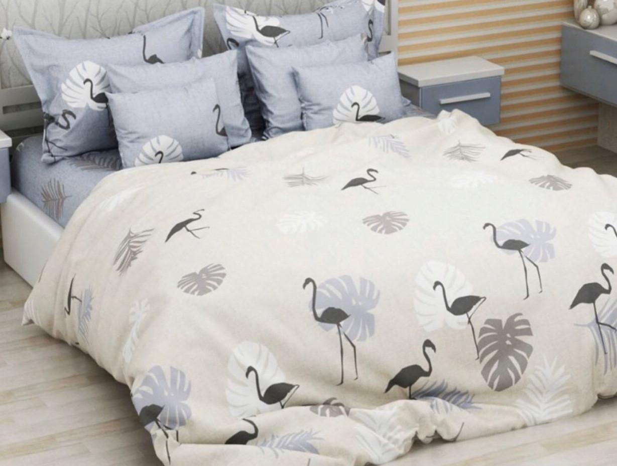 Двуспальный размер «Фламинго папоротник» постельное белье бязь