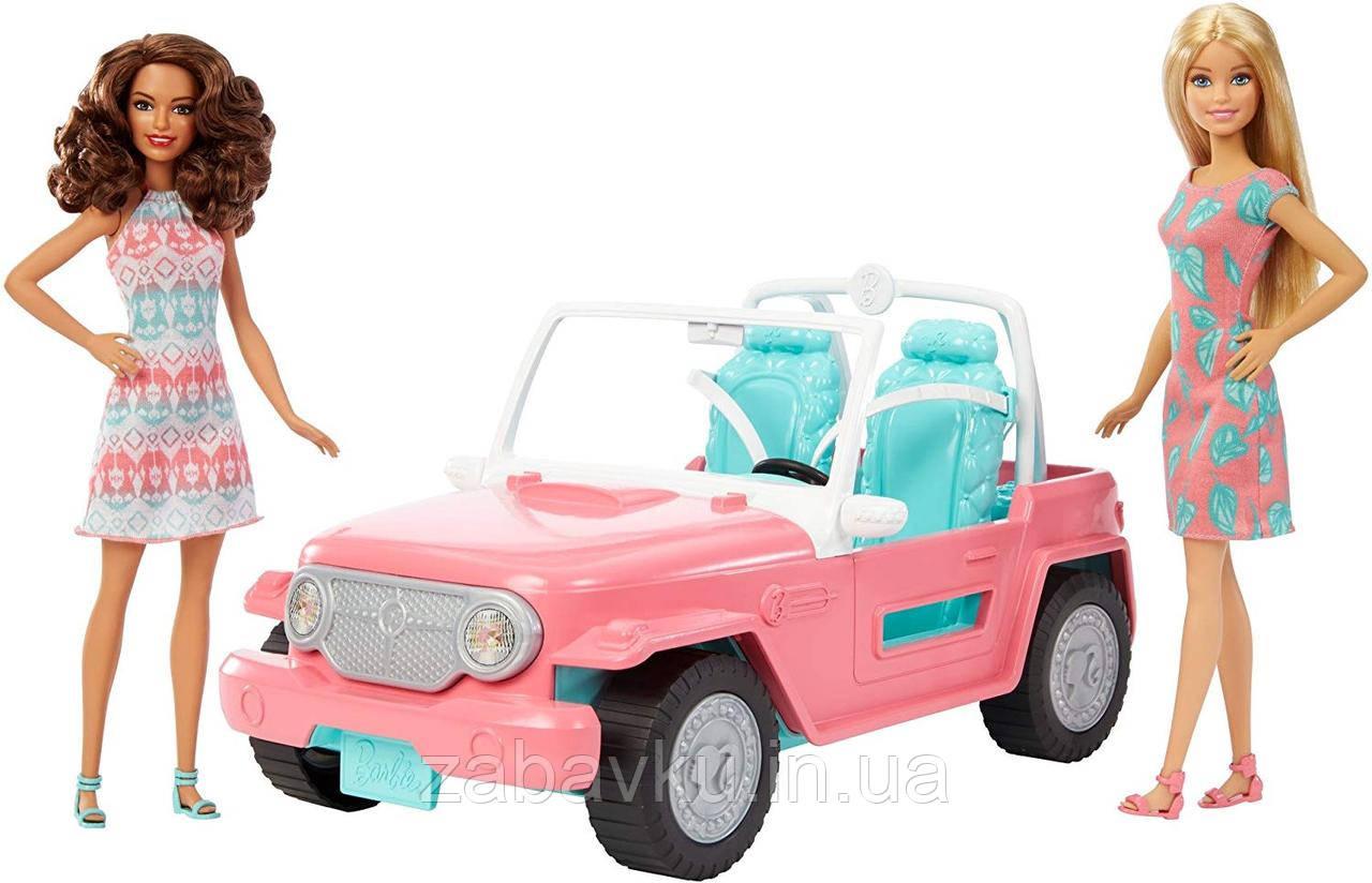 Джип Барбі з двома ляльками машина Barbie Jeep with Two Dolls