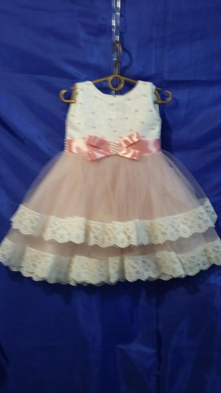 Детское платье для девочки с кружевом р. 2-3 лет опт