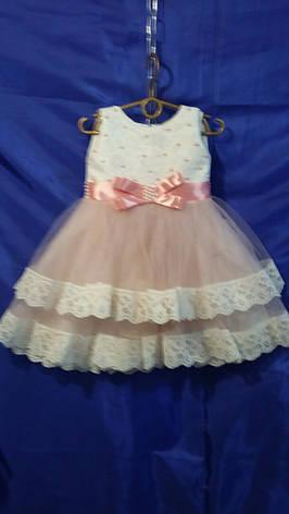 Детское платье для девочки с кружевом р. 2-3 лет опт, фото 2