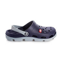 Кроксы Jose Amorales мужские синие с серым. Сабо с перфорацией, пляжная, летняя обувь, клоги,