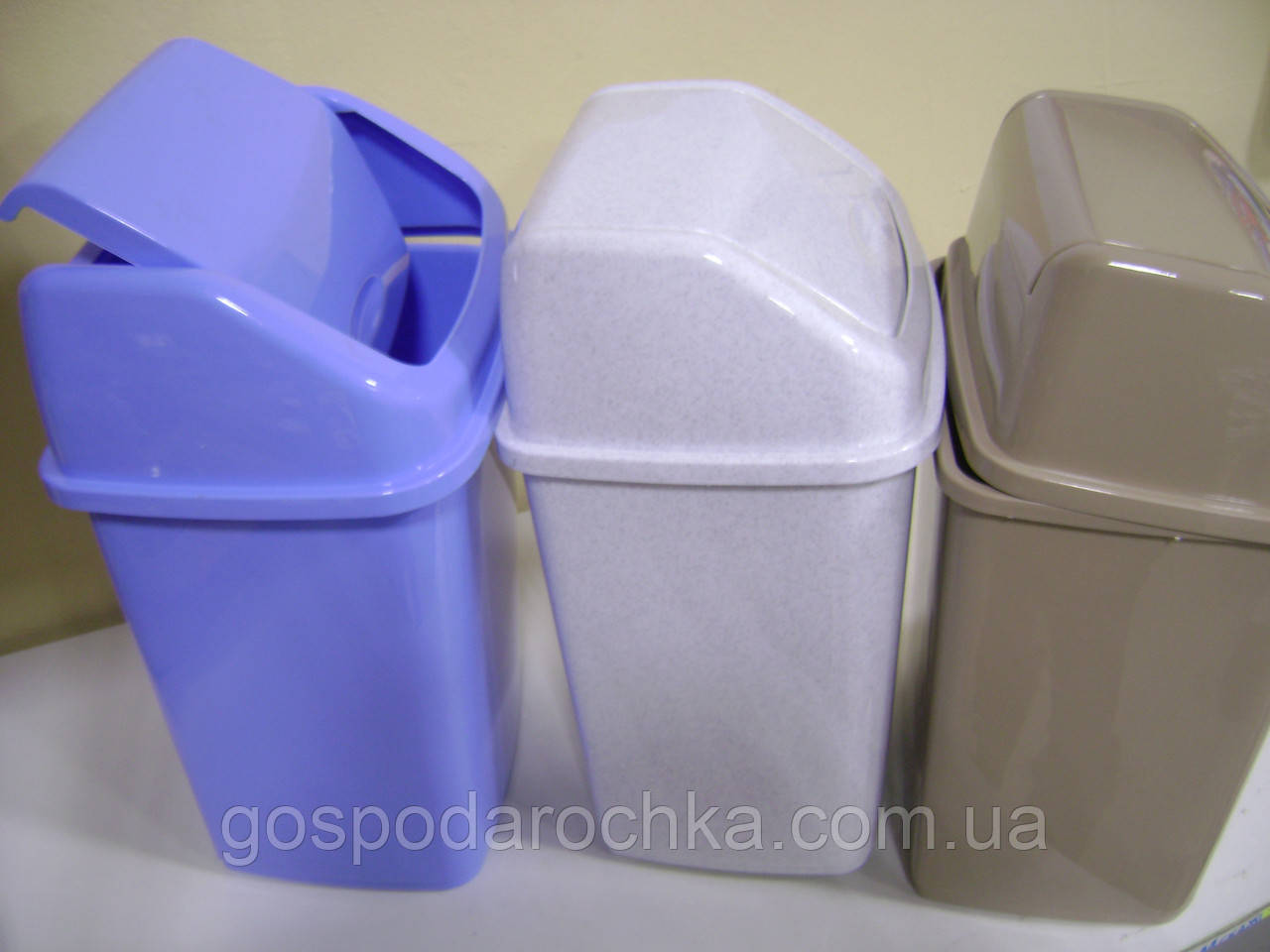 Відро для сміття з кришкою 10 л колір в асортименті