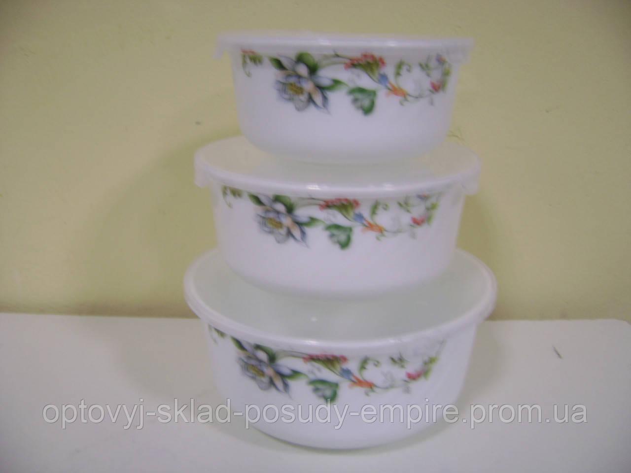 Набор круглых салатников 3_пр Лотос 6798