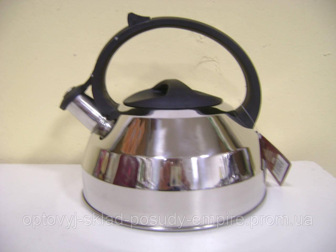 Чайник нержавеющий со свистком 49504 LESSNER 2,7л