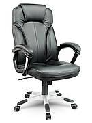 Кресло стул офисный кожаный Sofotel EG-222 черный