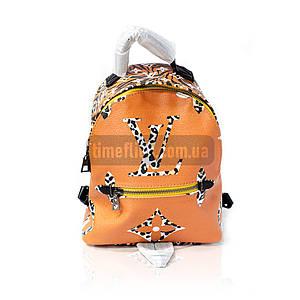 Кожаный рюкзак Louis Vuitton Оранжевый AAA Copy