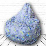 """Кресло груша Принт """"Меланж"""". Материал изделия можно изменять., фото 2"""