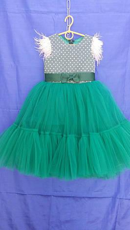 Сукня святкова для дівчинки р. 4-5 років опт євро сітка, фото 2