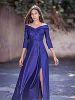 Вечернее длинное платье большого размера с рукавом 3/4 (M/L, L/XL)