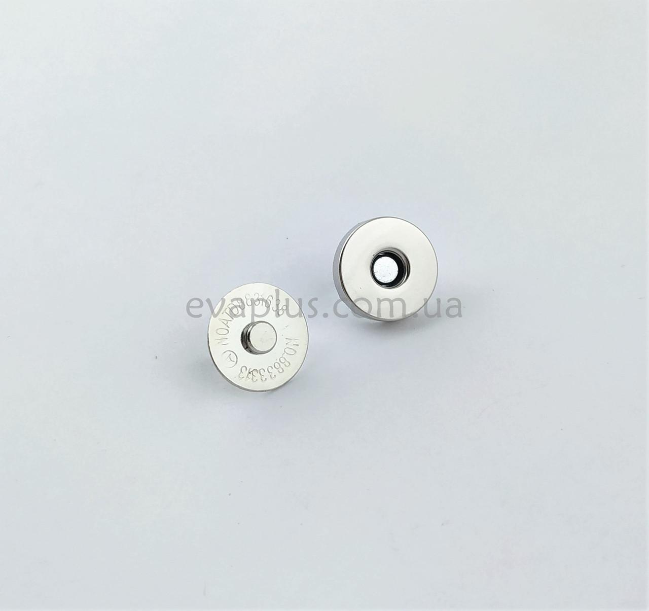 Магнитная кнопка для сумки Т5106 никель