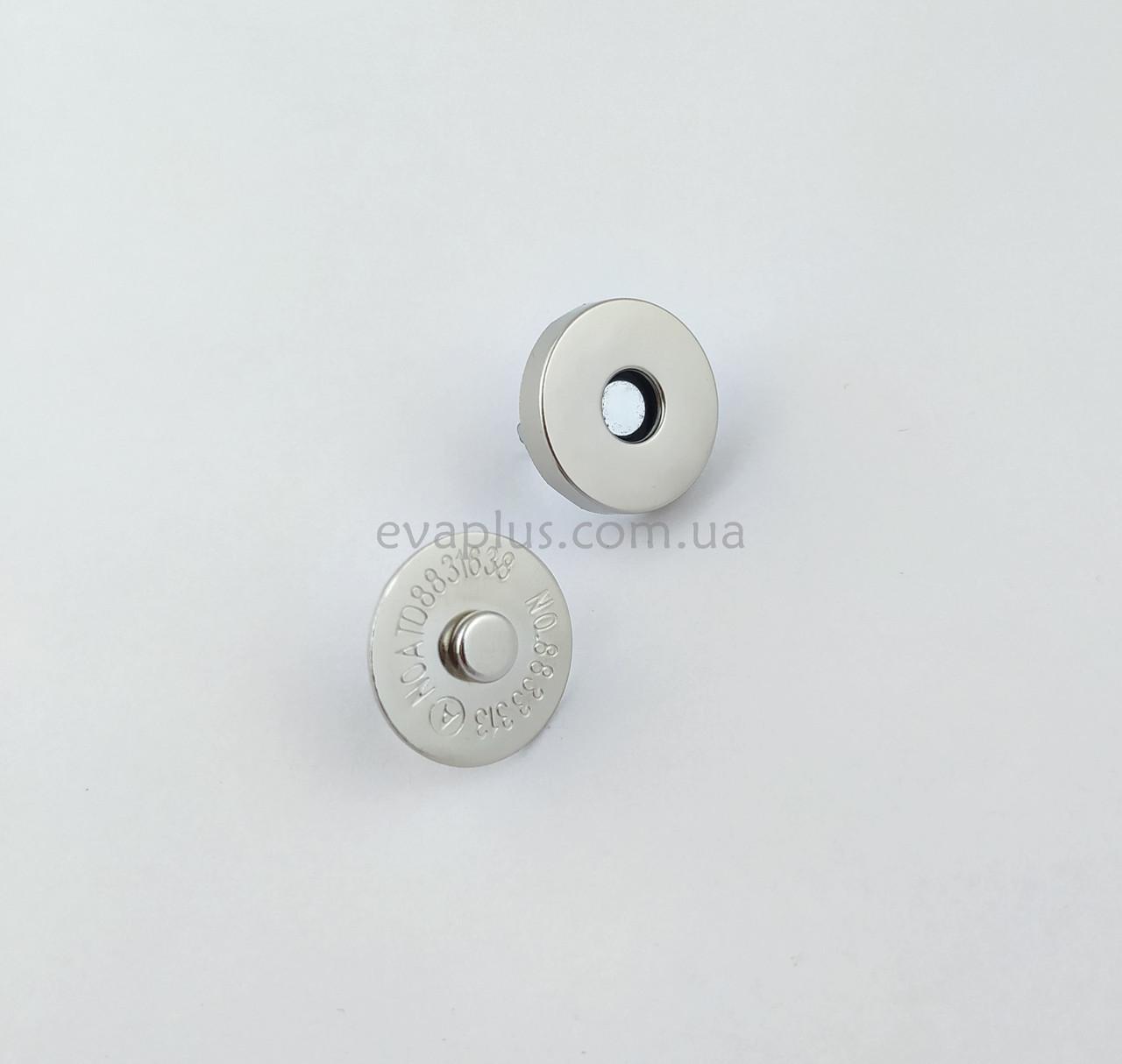 Магнітна кнопка для сумки Т5107 нікель