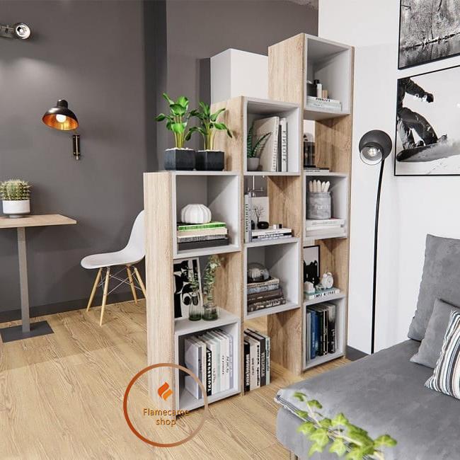 Полка для книг, стеллаж для дома 11 ячеек. ДСП. P0010