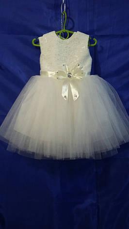 Детское платье для девочки Цветок р. 1,5-2 лет опт, фото 2