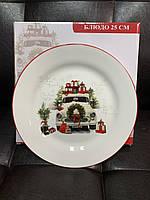 Набор керамических тарелок Новый год 358-948-6