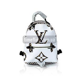 Кожаный рюкзак Louis Vuitton Белый AAA Copy