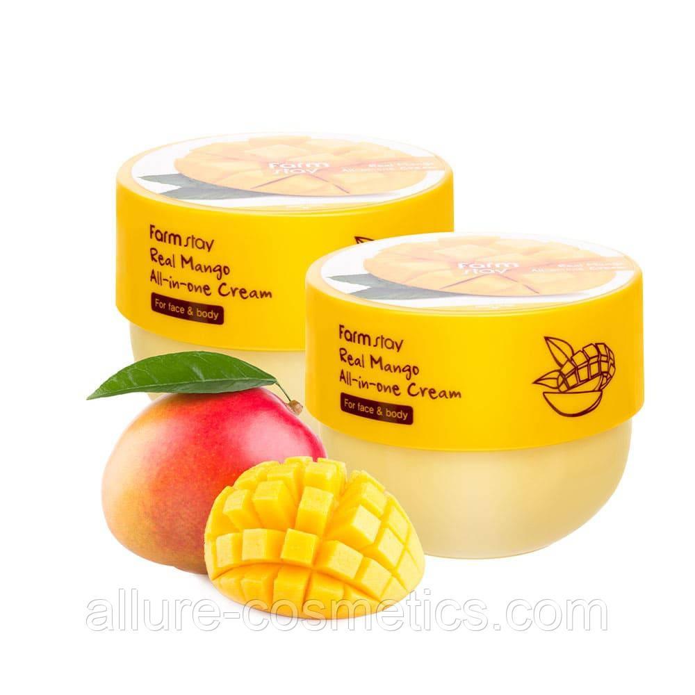 Farmstay Real Mango All-In-One Cream универсальный питательный крем-баттер