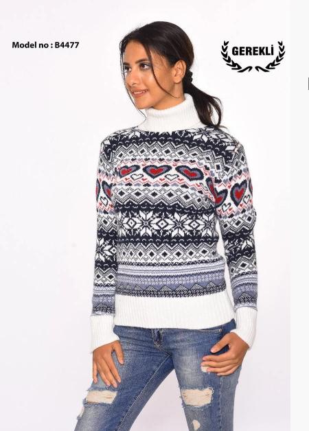 Праздничный свитер плотная вязка