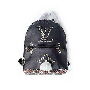 Кожаный рюкзак Louis Vuitton Чёрный AAA Copy