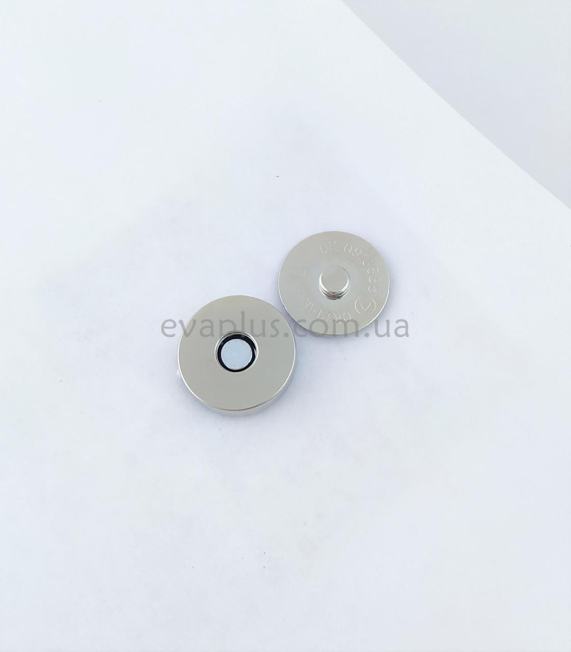 Магнитная кнопка для сумки Т5108 никель