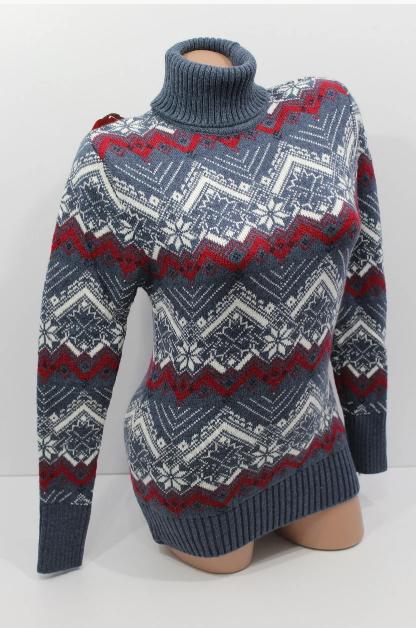 Зимний свитер для женщин со снежинками